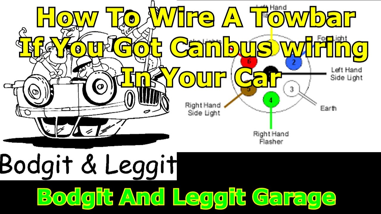 how to wire a towbar with canbus box part 2 bodgit and leggit garage [ 1280 x 720 Pixel ]