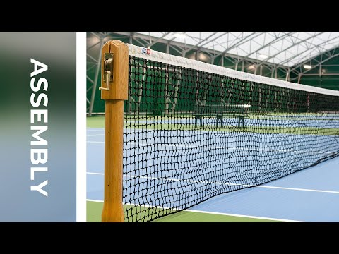 How To: Install Wimbledon Wooden Tennis Posts & Vermont 3.5mm DT Net