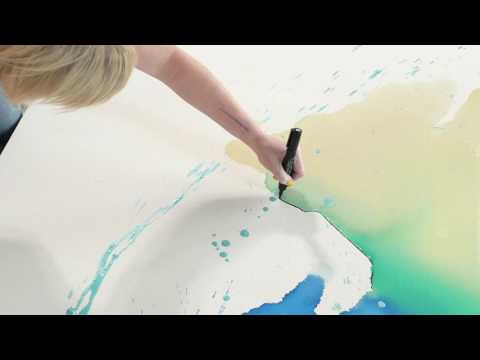 Laura Krudener  - Poured Action Painting
