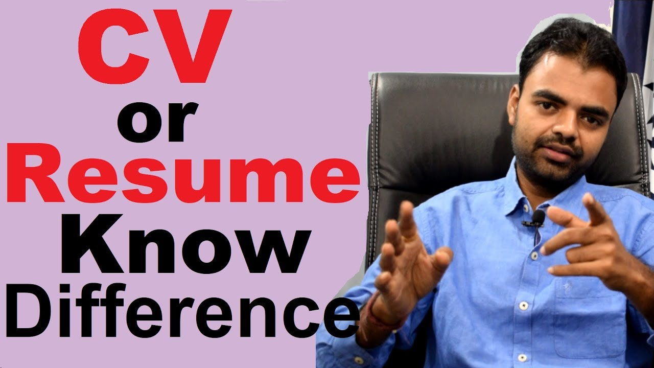 Difference Between Cv And Resume Or Biodata Tips For Creating Perfect Cv Or Resume In Hindi Youtube