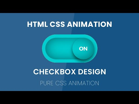 Simple Checkbox Design HTML CSS | Pure CSS Animation | No Javascript