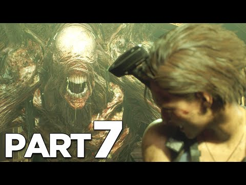 NEMESIS STAGE 2 FORM BOSS In RESIDENT EVIL 3 REMAKE Walkthrough Gameplay Part 7 (RE3 NEMESIS)