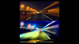 DOD行車記錄器RX8 vs 一般行車記錄器高速公路夜間