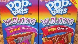 Wild Berry & Wild Cherry Wildlicious Pop Tarts Taste Test & Food Review