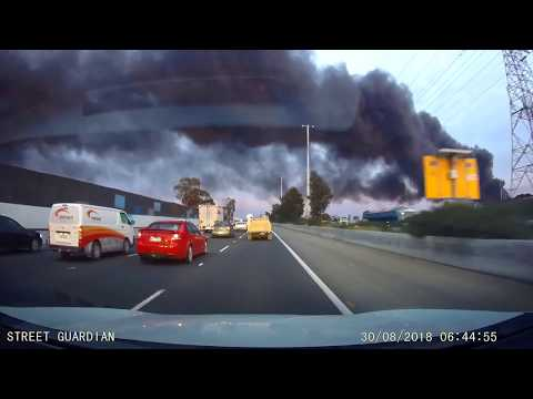 Fire Rages Out of Control in West Footscray, Melbourne, Australia