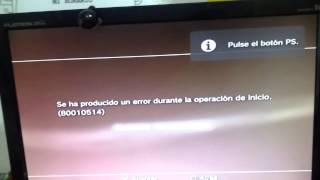 Solucion al error 80010514 para play station 3