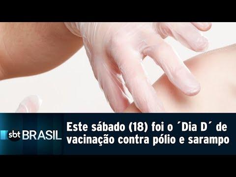 Este sábado (18) foi o Dia D de vacinação contra a pólio e o sarampo | SBT Brasil (18/08/18)