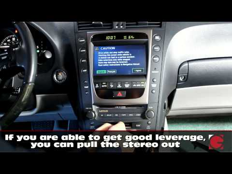2006 Lexus GS300 GROM USB Android IPhone Bluetooth Car Kit Installation, Car Stereo Removal Guide
