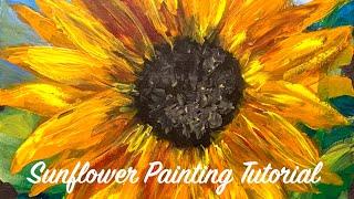 Summer Sunflower Painting Lesson