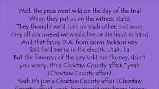 Choctaw County Affair - Carrie Underwood Lyrics