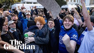 European Super League: Chelsea fan protests turn to celebrations as club withdraw