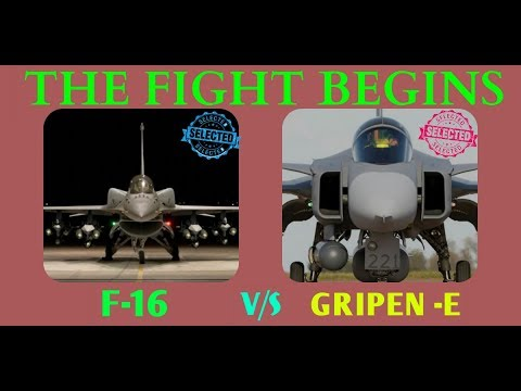 FIGHT BETWEEN GRIPEN E  &  F 16 by indian defense news