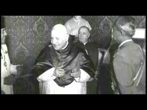 President Sukarno of Indonesia audience with Pope John XXIII at the Vatican 1959
