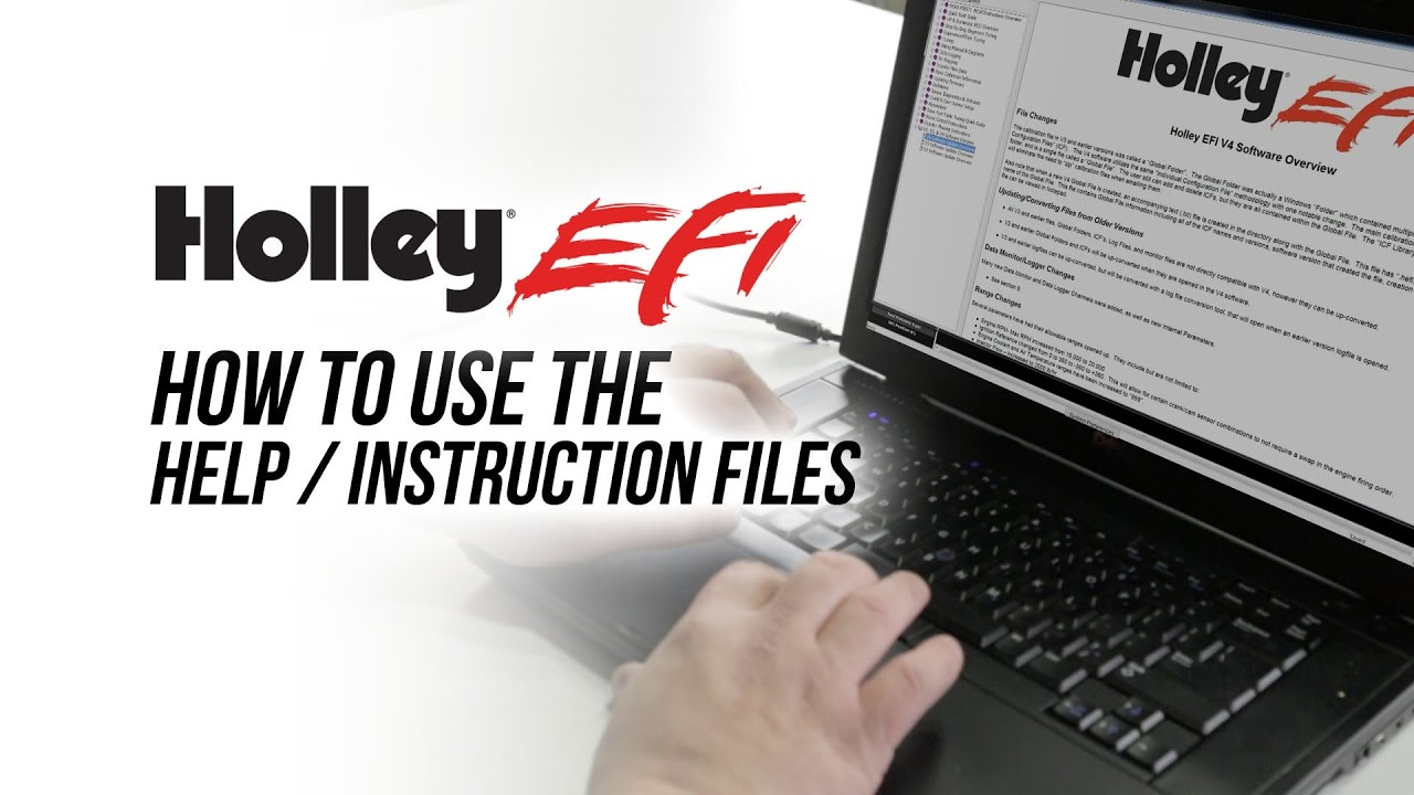Holley EFI Software - How To Use The Help / Instruction Files