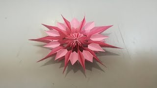 Easy Paper Flowers | How to make a paper flowers | Folded Flower Christmas Tree
