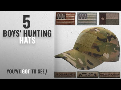 Top 10 Boys' Hunting Hats [2018]: Lightbird Tactical Cap Adjustable Hunting Hat And 6 Pieces