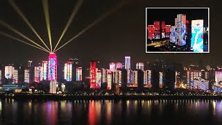 video: Watch: Wuhan celebrates the end of coronavirus lockdown with spectacular light show