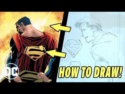 How To Draw Superman W Frank Miller John Romita Jr Youtube