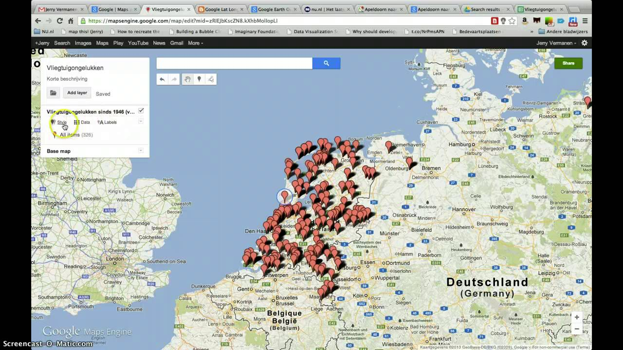 Tutorial: Een kaart maken in Google Maps Engine Lite - YouTube