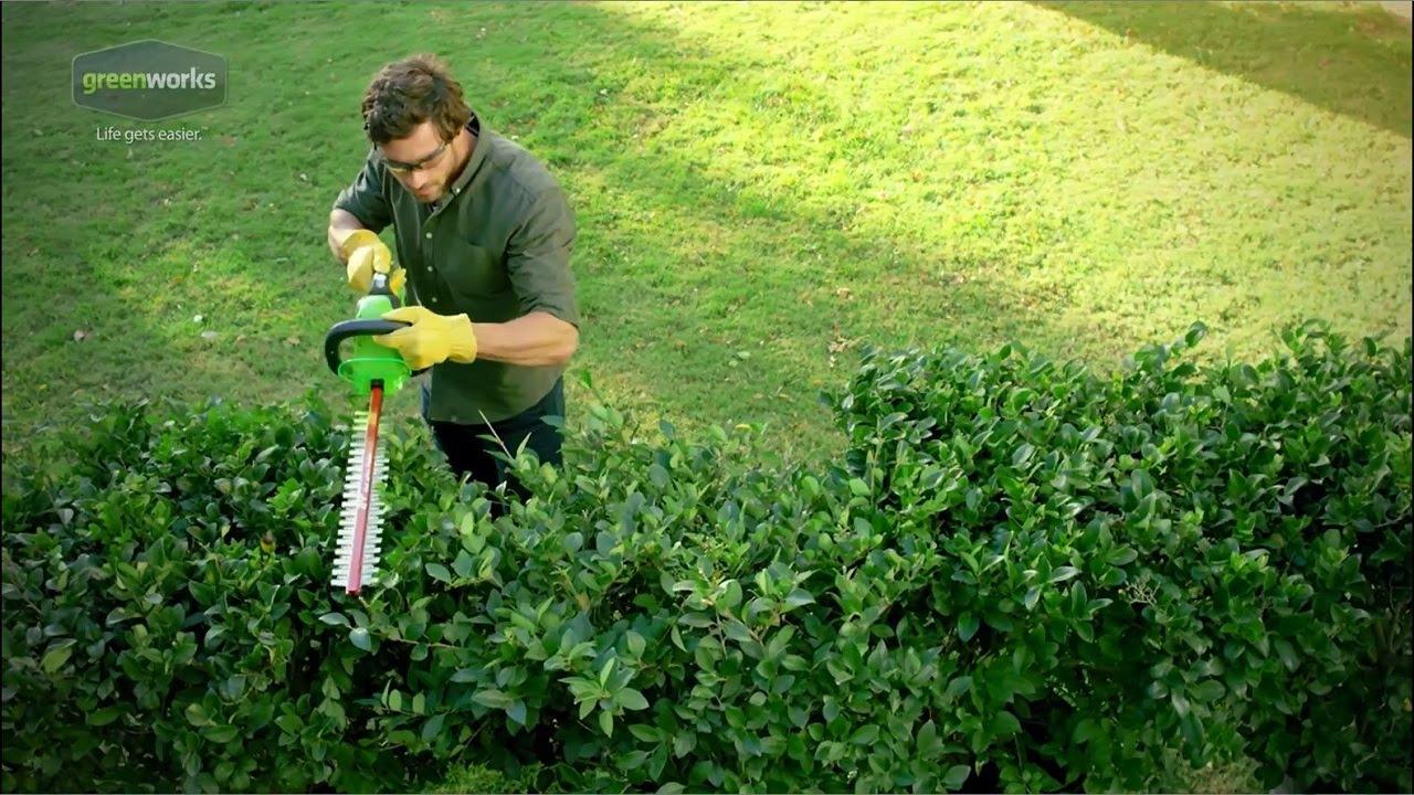 Greenworks G Max 40v 24 In Cordless Hedge Trimmer 22262