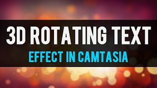 كيفية إنشاء نص 3D في شرح Camtasia Studio