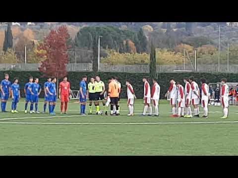 """Torneo dei Gironi, Selezione Lega Pro U 17 vs Selezione """"A"""" U 17, ingresso, cerimoniale inizio"""