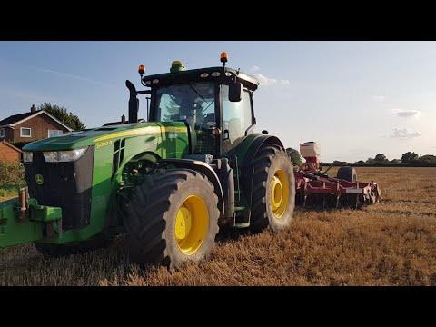 John Deere 8320r Drilling Oil Radish with Sumo: UK FARMING / Country Life / Tractors