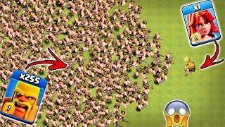 1 Max Valkyrie vs 255 Max Barbarian Clash of Clans | 1 Valk vs Barbarian