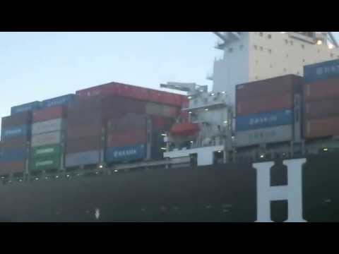 Bay Area Container Ship Spotting - Hanjin Netherlands at Port of Oakland  June 17, 2013