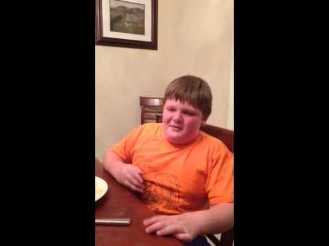 Kid sings fart song
