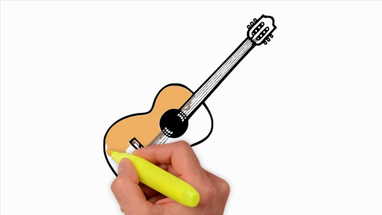 Coloring Pages How To Draw A Realistic Guitar