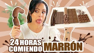 24 HORAS COMIENDO MARRÓN | RETO SandraCiresArt | All Day Eating Brown Food Challenge