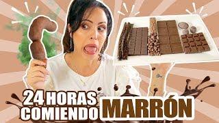 24 HORAS COMIENDO MARRÓN | RETO SandraCiresArt | All Day Eating Brown Food Challenge