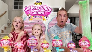 Opening Cotton Candy Cuties Toys! Longest Slime Stretch Ever!