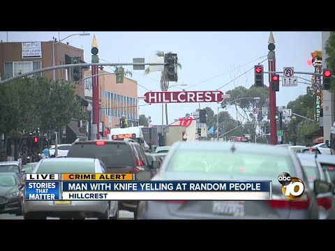 Man with knife threatens people in Hillcrest