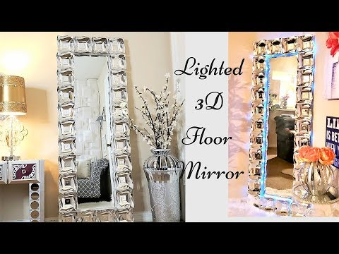 Diy 3D Large Glam Floor Mirror| Inexpensive Gift idea| Home Decor| Quick and Easy Gift idea!