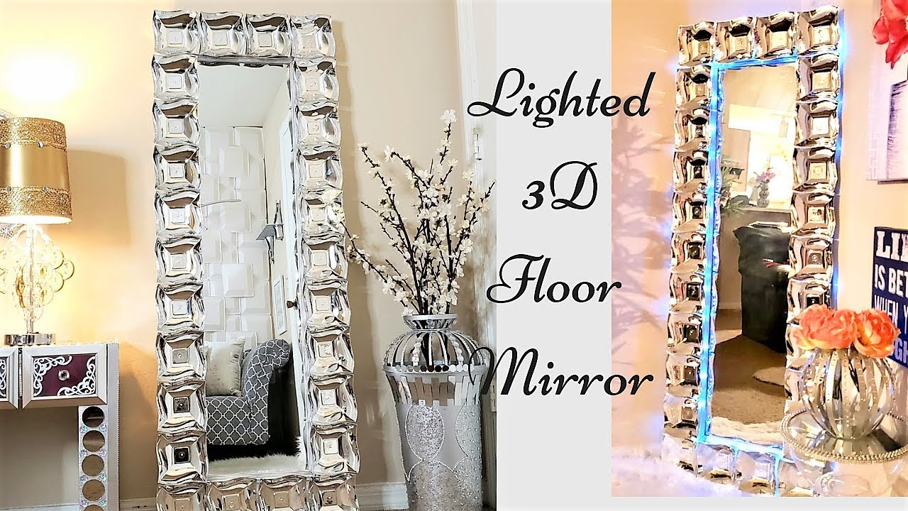Diy 3D Large Glam Floor Mirror| Inexpensive Gift idea ...