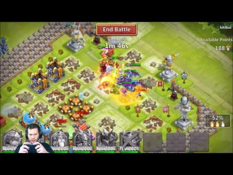 JT's Main Guild Wars Attacking Defense Heroes Head On Castle Clash