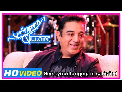 Uttama Villain Movie | Scenes | Kamal Knows He Has A Daughter | Kamal Decides To Do Film With K.B