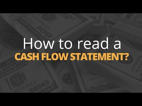 How Do You Read a Cash Flow Statement?