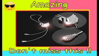 Crystal Swan Rear View Mirror Hanging Accessory   | Cool Car Gadgets