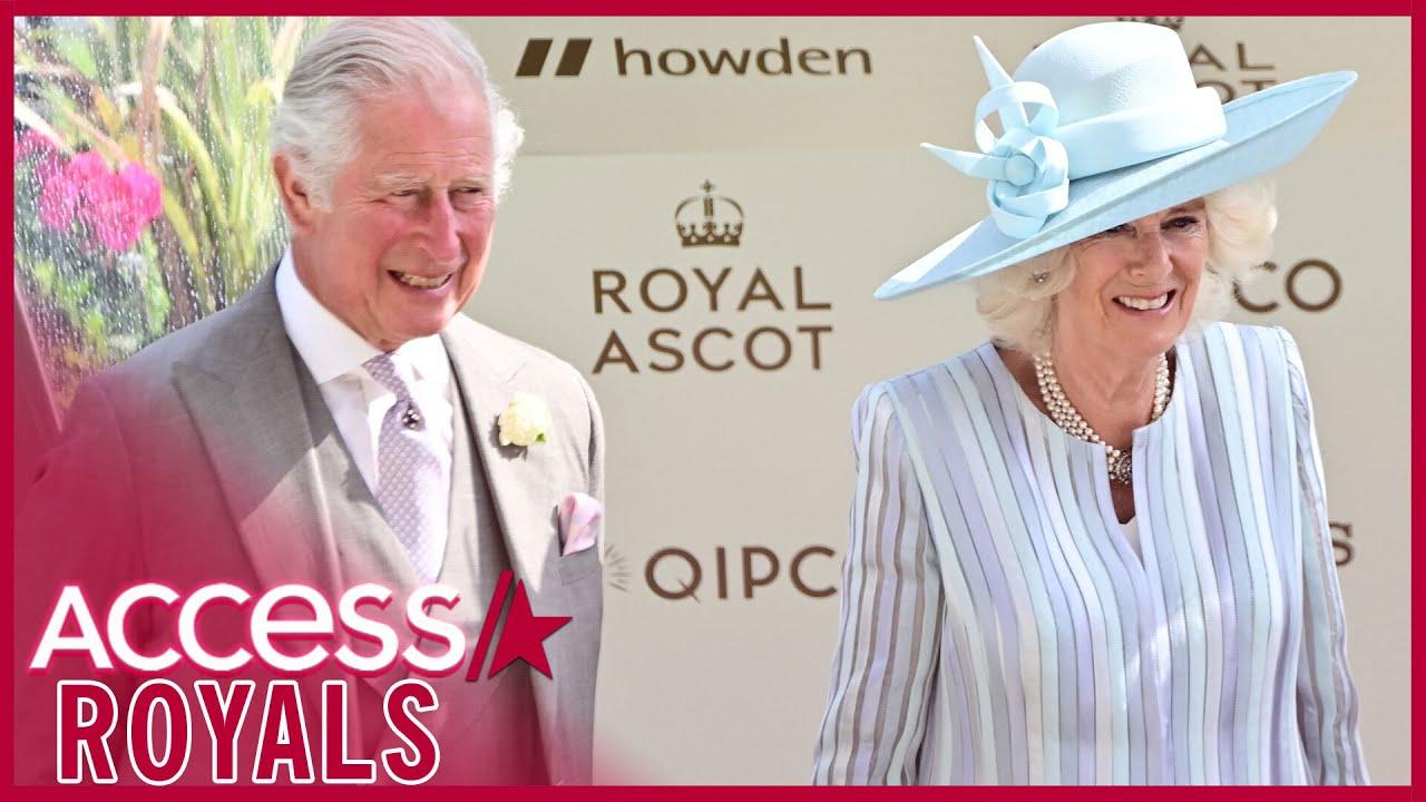 Prince Charles, Camila & Princess Anne Attend Royal Ascot