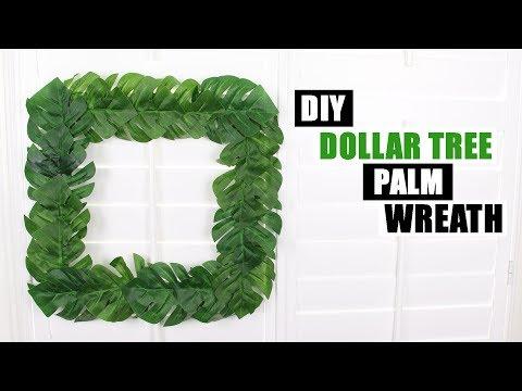 DIY DOLLAR TREE WREATH Palm Leaf DIY Home Decor Idea