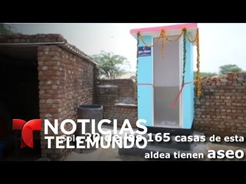 Instalan nuevos baños públicos en el 'Trump Village'   Noticias   Noticias Telemundo