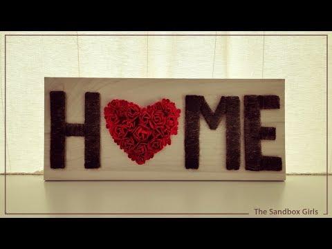 Home Decor Ideas - Wooden Home Sign - DIY Wall Art