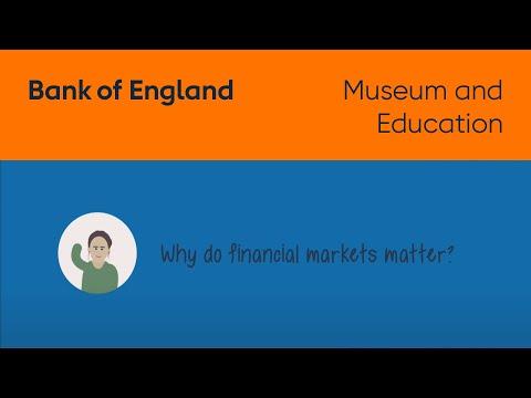 Why do financial markets matter?