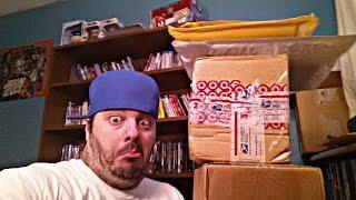 SUPER MEGA WWE DVD UNBOXING!  32 PICKUPS! RETURN OF THE SAFETY KNIFE!