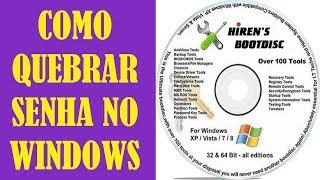 Windows 8.1 - Como quebrar senha de login no Windows com Hirens Boot?
