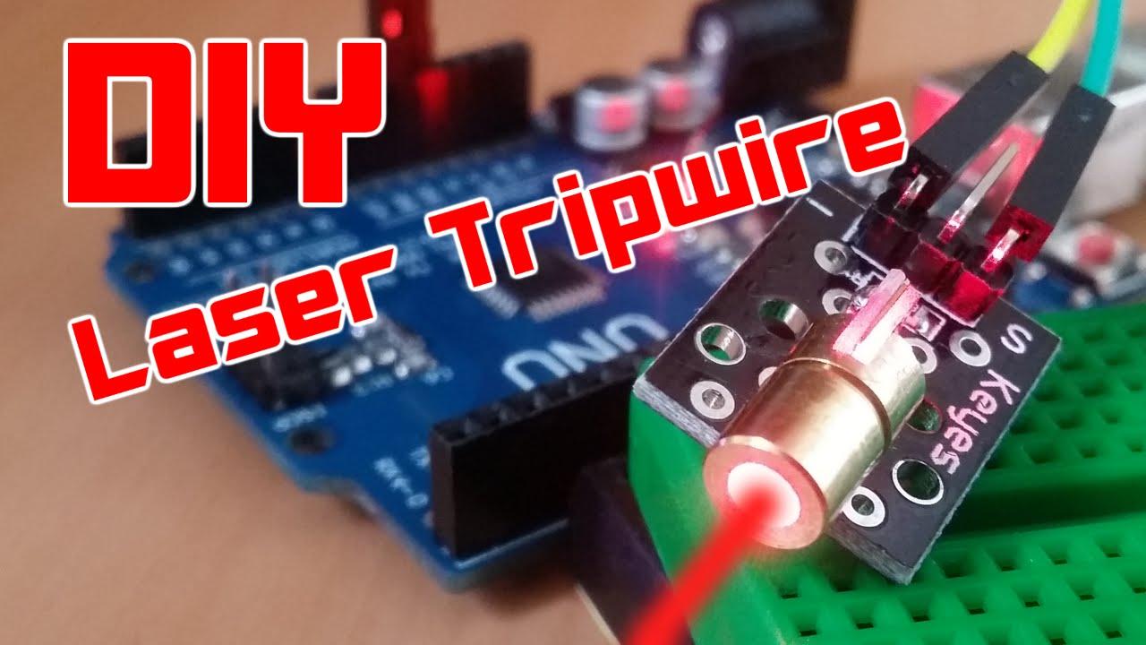 diy easy arduino laser tripwire security system youtube. Black Bedroom Furniture Sets. Home Design Ideas