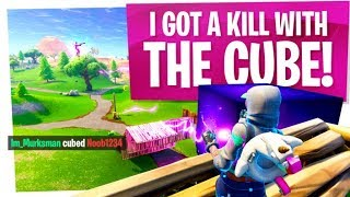 WE DID IT! We KILLED a POOR NOOB with a CUBE! - Fortnite Fun w/ Wildcat